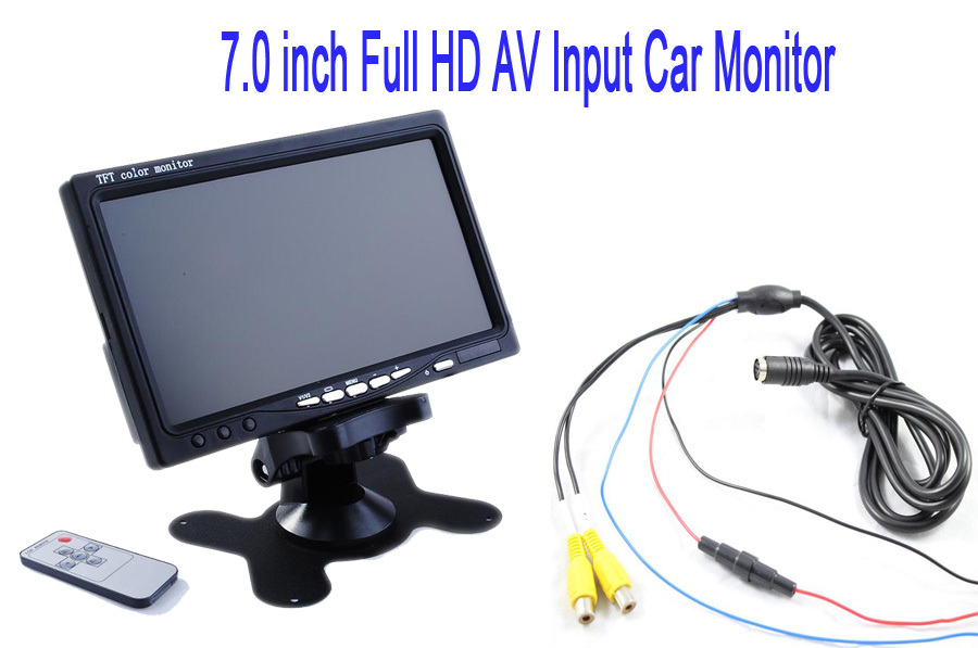 Car Rear view Monitor KJ-726HD 7.0 Inch TFT LED display Car Rearview Backup Monitor 2 Video AV Input for Reverse Camera DVD(China (Mainland))