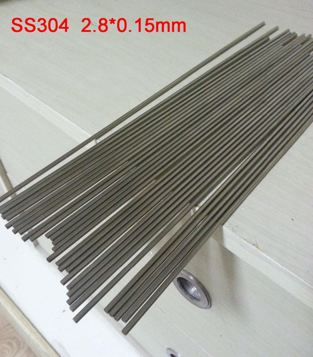 2.8x0.15 mm Hard Condition Stainless Steel capillary pipe SS304 small tube About 300mm/pc,30pcs/lot(China (Mainland))