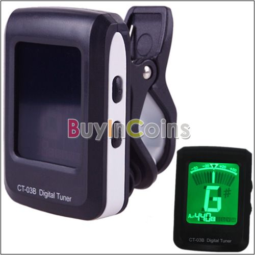 LCD Clip-On Guitar Bass Violin Ukulele Chromatic Electronic Tuner Tuning Parts CT-03B US AS #30587(China (Mainland))
