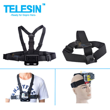 Gopro Accessories Adjustable Elastic Gopro Chest Belt + Head Mount Strap with Plastic Buckle for Go pro Hero3 2 Accessories