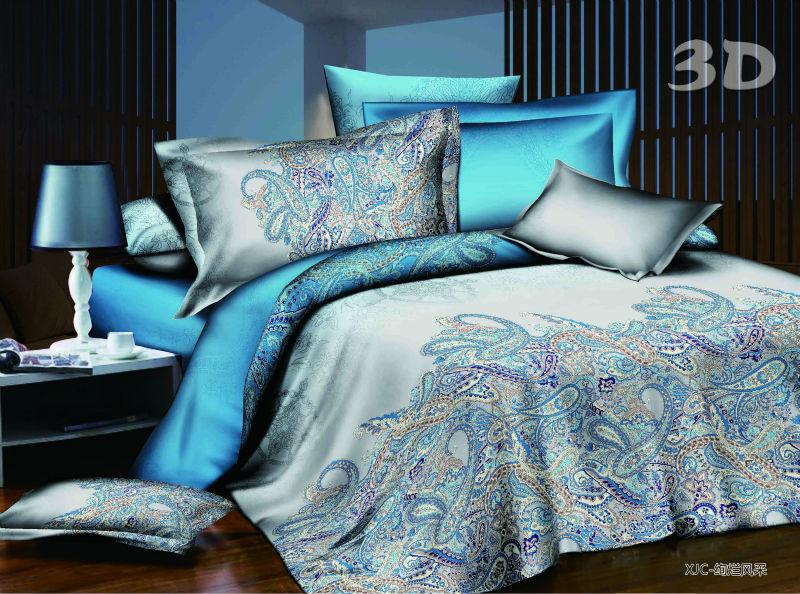 home textile 3d bedding set queen size 200cm * 230cm red flower comforter bedding-set cama bedding sheet set brand(China (Mainland))
