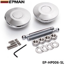 EPMAN Universal Push Button Billet Hood Pins Lock Clip Kit Car Quick Latch New Default color is Silver EP-HP006-SL(China (Mainland))