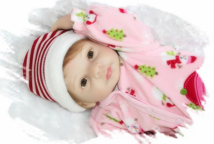 Фотография 22 Inch Realistic Reborn Silicone Dolls Soft Newborn Baby Girl That Look Real Kids Birthday Xmas Gift