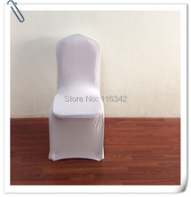 2015 hot sale !!! 50pcs lycra chair cover white /banquet chair covers for weddings(China (Mainland))