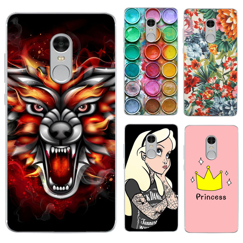 Redmi NOTE 4X FOR Xiaomi Redmi Note 4X Case Cover Soft TPU Silicone Painted Phone Protective Back Case FOR Xiaomi Redmi Note 4X