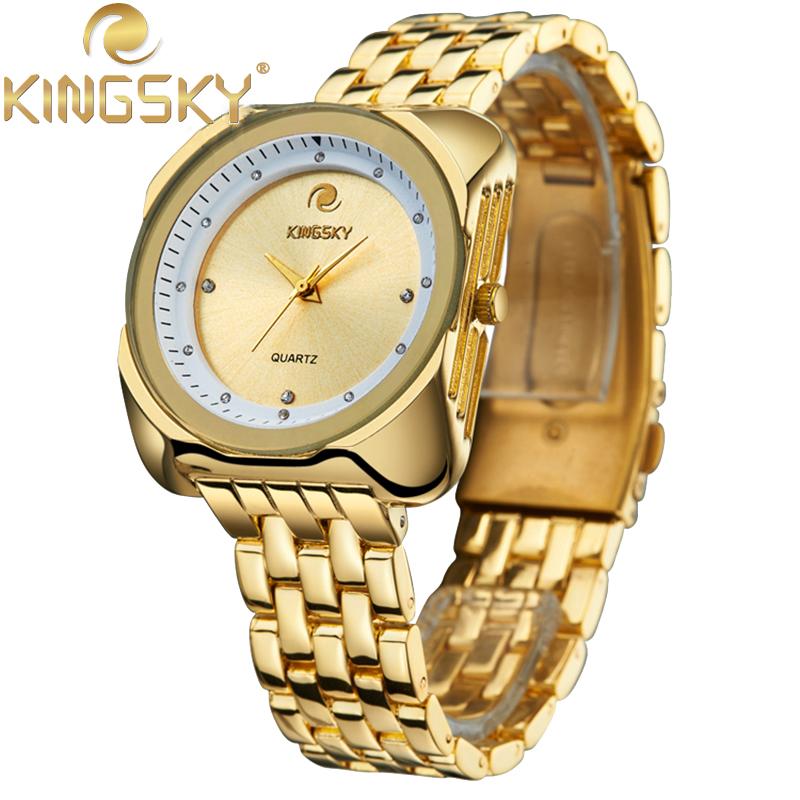 Big Round Business Quartz Watches KINGSKY Simple Watch Casual Watchband Luxury Quartz-watch Wristwatch HE2979<br><br>Aliexpress