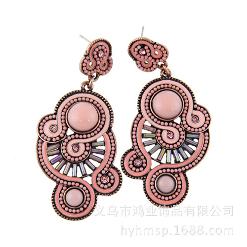 European and American jewelry wholesale ethnic style earrings pearl earrings European style Pygmy export spot wholesale(China (Mainland))