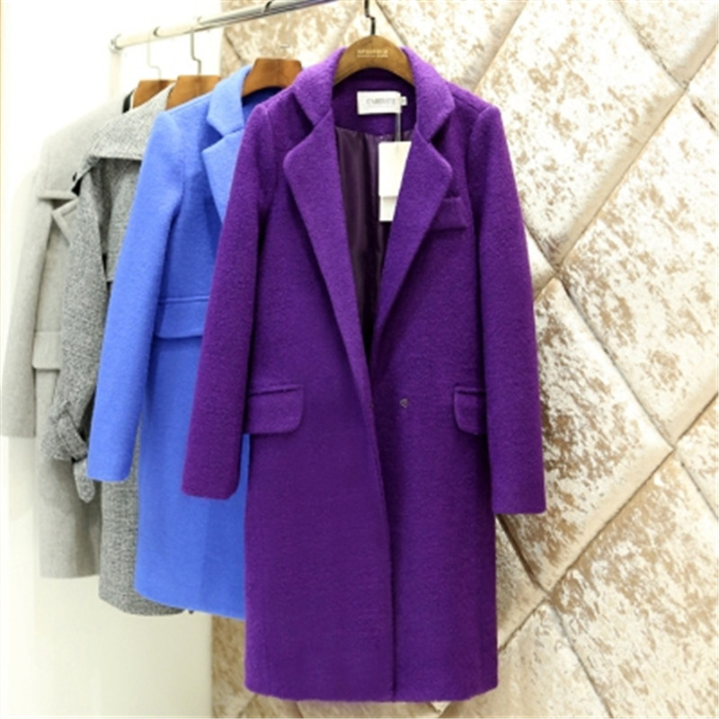 Purple Long Jacket - Coat Nj