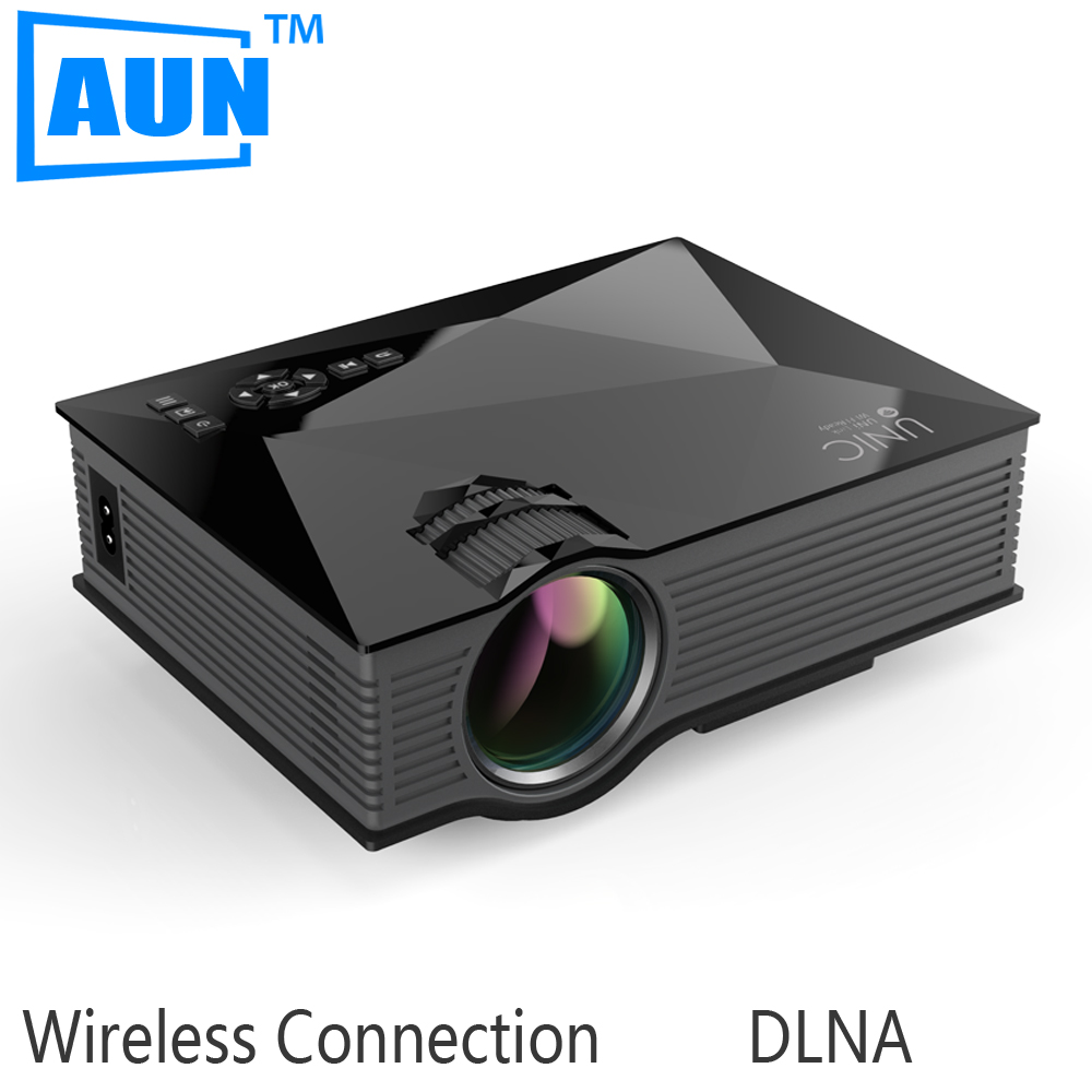AUN Original UNIC UC46 MINI Projector Support Full HD 1080P 1200Lumens LED Projector with 2.4G WIFI for Home Theater<br><br>Aliexpress