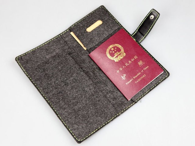 Chinao Reee FeltNew Passport Credit ID Card Cash Holder Organizer Wallet Case Organiser Bag  R03-01