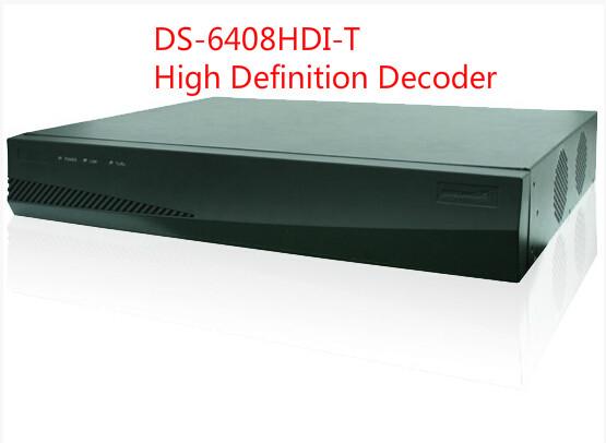 DS-6408HDI-T CCTV  video+audio High Definition Decoder HDMI+VGA+BNC 5MP resolution Decode video stream CCTV Decoder<br><br>Aliexpress