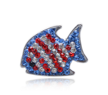 arrive 1 crystal fish snap buttons charms metal button fit diy bracelet jewelry - Cara's Shop For DIY Jewelry store