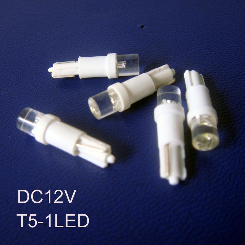 High quality T5 led Indicator lights,T5 auto 12vdc led lamps / free shipping 500pcs/lot(China (Mainland))