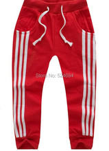 2015 Hot fashion Children Boy Long Casual Pants Boy Girl Cotton Sports Trousers Kids Top Quality