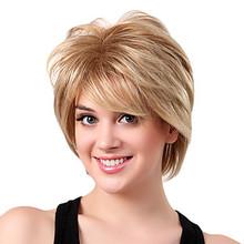 Высокое качество шикарный короткий прямой прическа монолитным синтетические парики волос для женщин