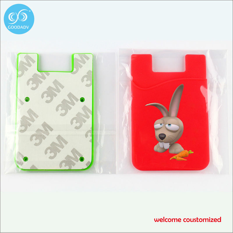 Hot Sale Card Holder Wallets High Quality Female Credit Card Holders /cell phone card holder/silicone card holder(China (Mainland))