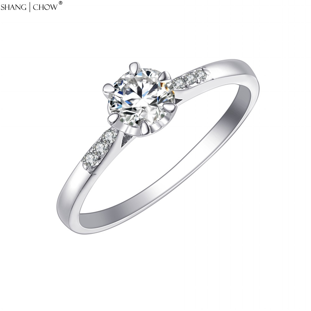 Rush Store Level 2016 New Arrived Summer Romantic Gift Authentic 925 Sterling Silver Ring Wedding Party Lifetime warranty(China (Mainland))