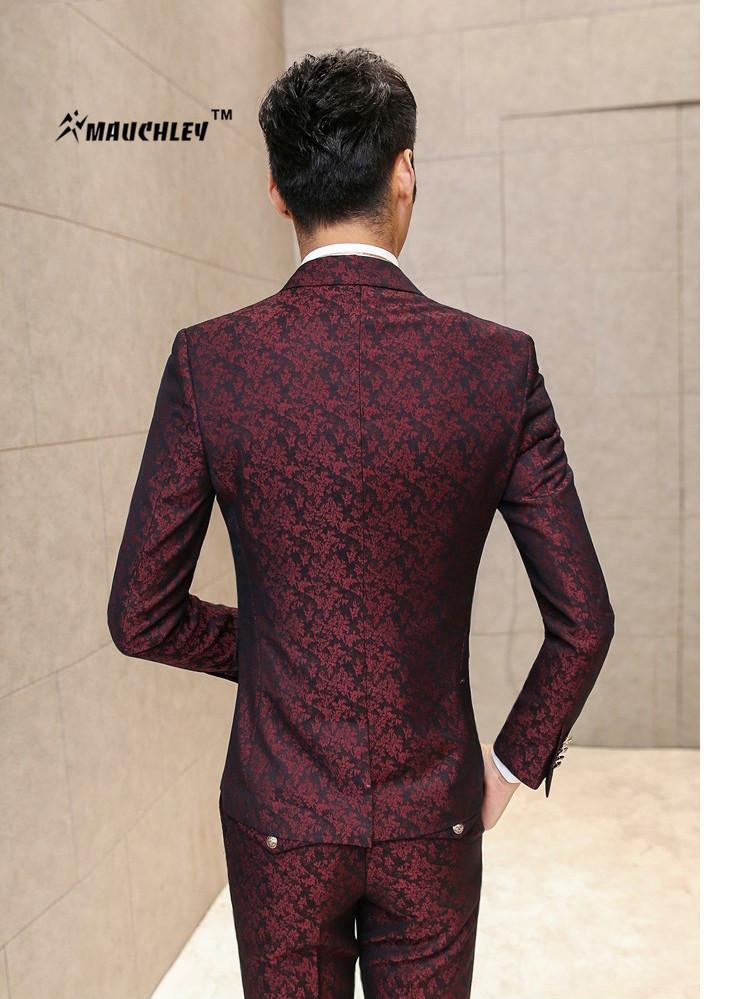 HTB133poQFXXXXXNXXXXq6xXFXXX9 - MAUCHLEY Prom Mens Suit With Pants Burgundy Floral Jacquard Wedding Suits for Men Slim Fit 3 Pieces / Set (Jacket+Vest+Pants)