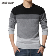 2016 New Autumn Fashion Brand Casual Sweater O-Neck Striped Slim Fit Knitting Mens Sweaters And Pullovers Men Pullover Men M-5XL(China (Mainland))