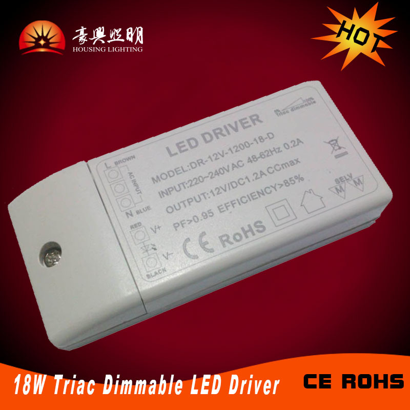 Triac Dimmable led driver 18w Constant Voltage(DC12V/DC24V) Constant Current(350mA/700mA) 18W LED Power Supply(China (Mainland))