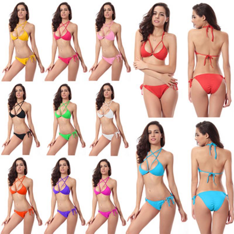 2017 Women's Swimsuit Brazil's New Sexy Bottom Kimball Bikini Wear More 11-color European And American Swimming Bikini Suit(China (Mainland))