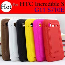 Original XMART Brand Soft Silicone Back Cover Case For HTC Incredible S G11 S710E + Free shipping(China (Mainland))