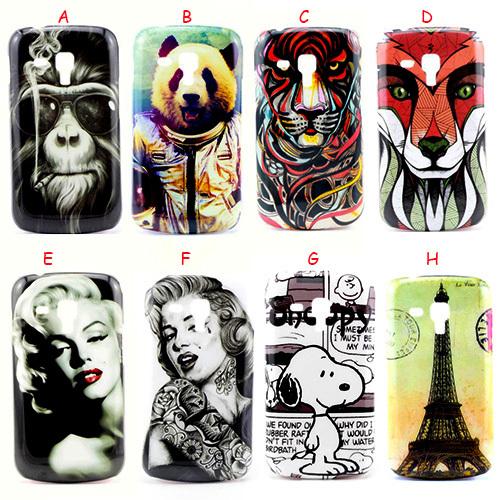 Vintage Tower Flag Marilyn Monroe Skull Cartoon Animal Camera Hard Case For Samsung S7562 Galaxy S Duos Plastic Back Cover Skin(China (Mainland))