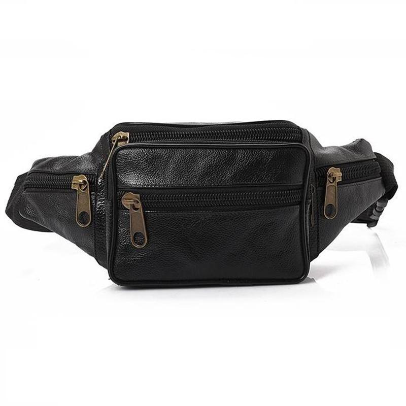 Retro Genuine Leather waist bag women men fanny pack Leather belt bag sport waist pack bag money belt waist pouch Messenger Bag(China (Mainland))