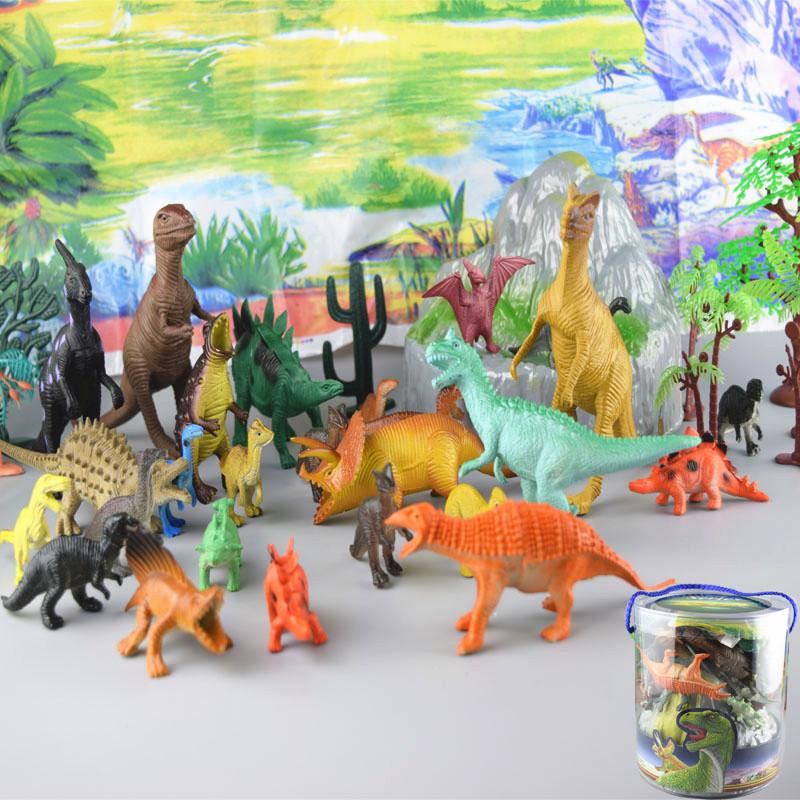 Barreled dinosaur toys,dinosaur playsets Children's educational toys The best gift for children