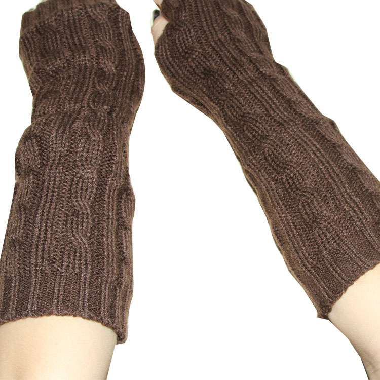 New Fashion Women Men Pretty Stylish Winter Hand Arm Crochet Knitting Wool Mitten Fingerless Gloves Free shipping(China (Mainland))