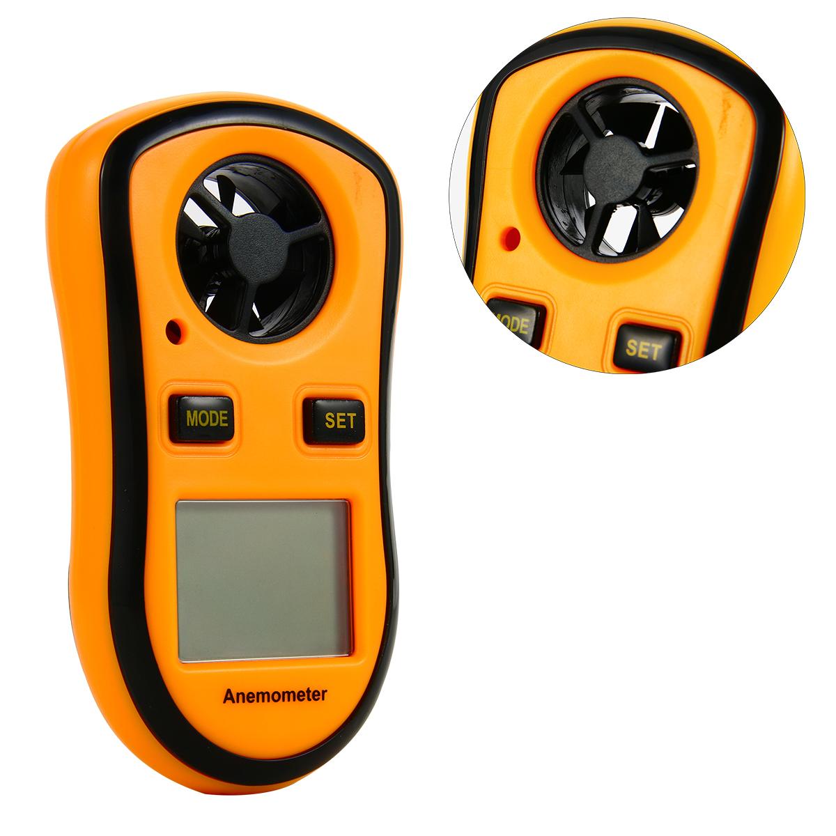 Digital LCD Handheld Anemometer Thermometer Air Wind Speed Velocity Meter TE325(China (Mainland))