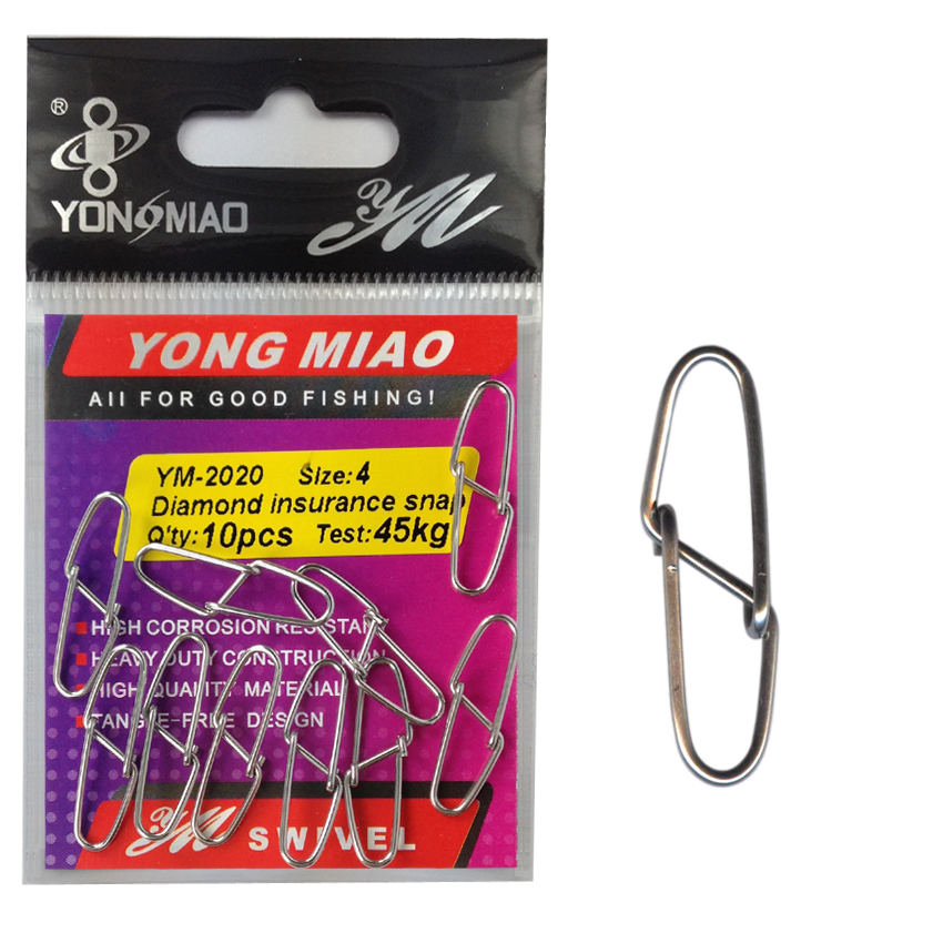 YM-2020 10bags Great quality Diamond insurance snap fishing tackle accessories Test from 8kg to 70kg(China (Mainland))