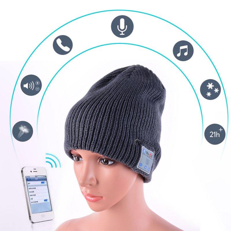Women Men Beanie Hat Wireless Bluetooth Smart Cap Headphone Headset Speaker Mic<br><br>Aliexpress