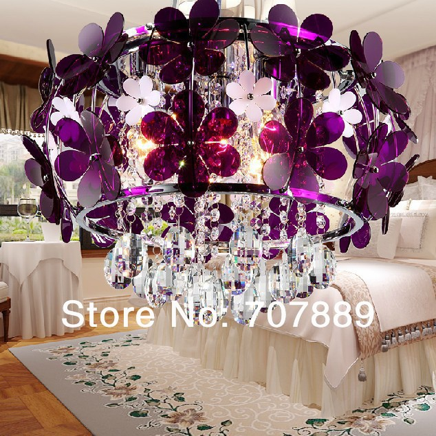Modern LED Crystal Chandelier Fashion Flower  Bedroom Restaurant Pendant Lamp Rustic Acrylic Petals Decorative Lighting Fixture<br><br>Aliexpress