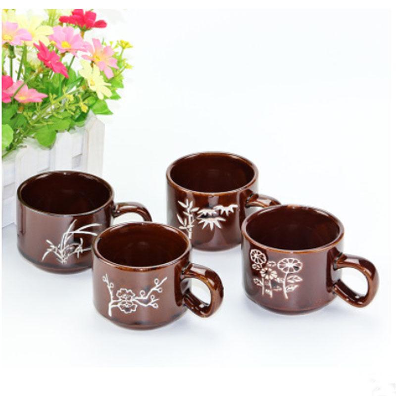 4 pcs / lot Cute Creative Ceramic Mug Drinkware Picture Coffee Travel Mugs Personalized Tasse Mug Cup Tazas Cafe Cups and Mugs(China (Mainland))