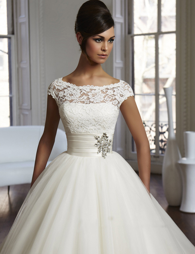 Stunning Short Sleeved Wedding Dresses Gallery - Styles & Ideas ...