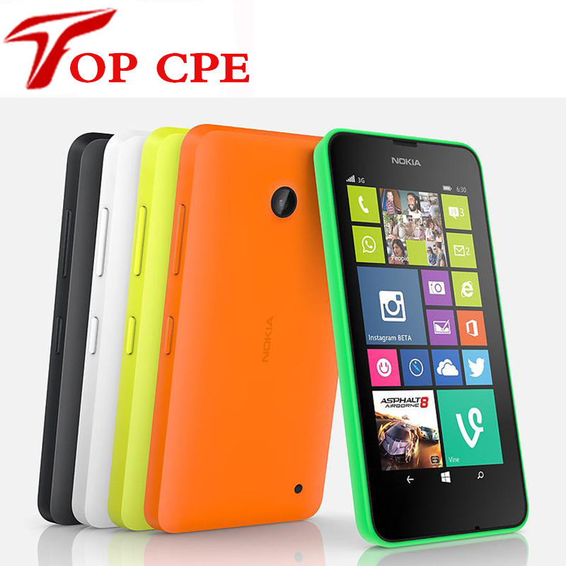 "Unlocked Dual Sim Mobile Phone Original Nokia Lumia 630 Windows phone 8.1 Snapdragon 400 Quad Core 4.5"" Screen 3G mobile phone(China (Mainland))"