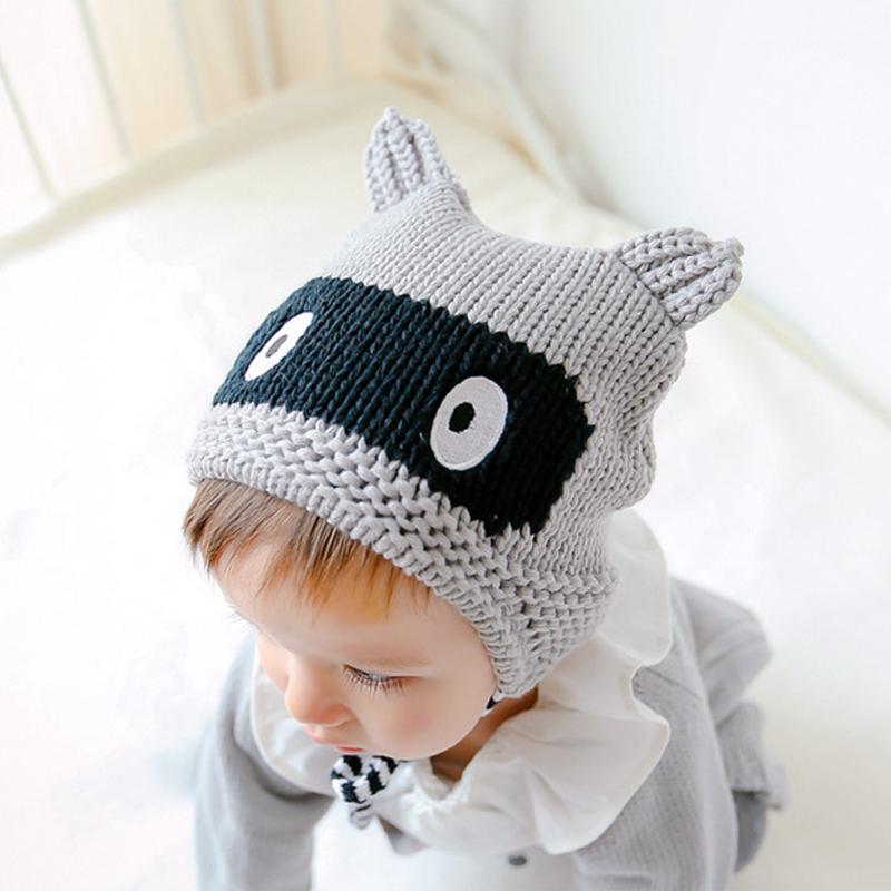 2016 Hot Sale Baby Girls Caps Brand Cartoon Pattern Ears Baby Beanie Hats Caps For Girl Crochet New Fashion Children's Hats(China (Mainland))