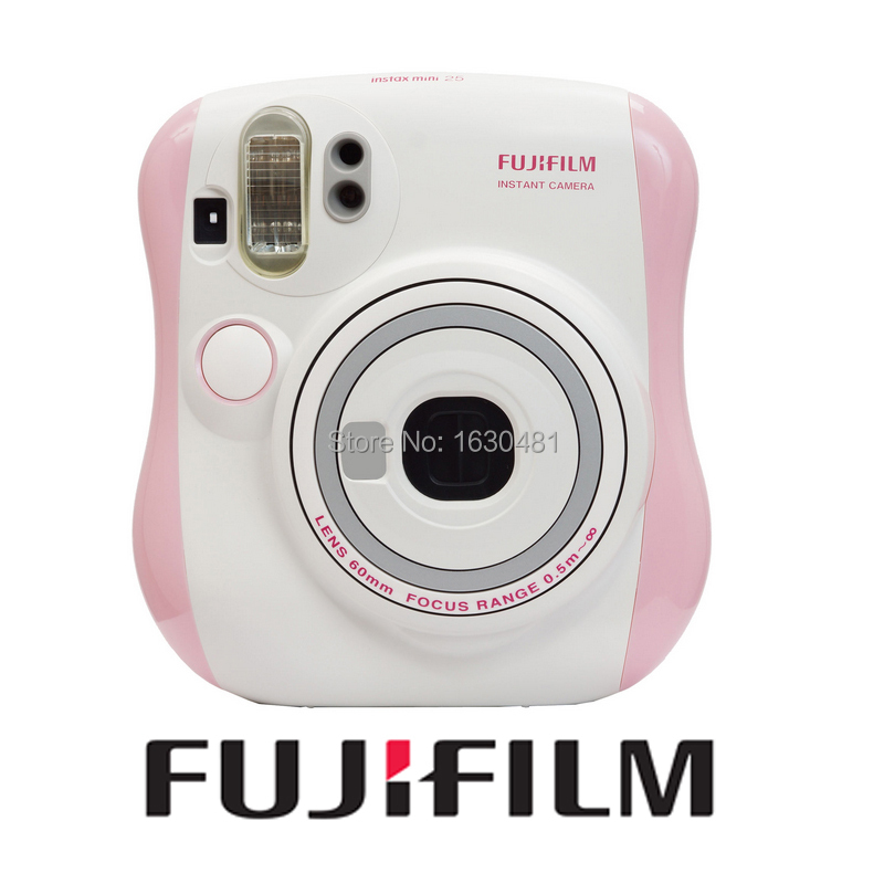 New Fuji Mini 25 Camera Fujifilm Fuji Instax Mini 25 Pink Color Instant Film Photo Camera(Hong Kong)