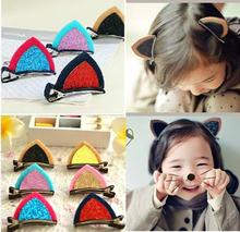 Buy 1pair=2pcs Cute Cat Ear Hairpins Hair Ornaments Hair Jewelry Children Hair Accessoreis Girls Hair Clip Kids Barrettes MY1 GYH for $1.00 in AliExpress store