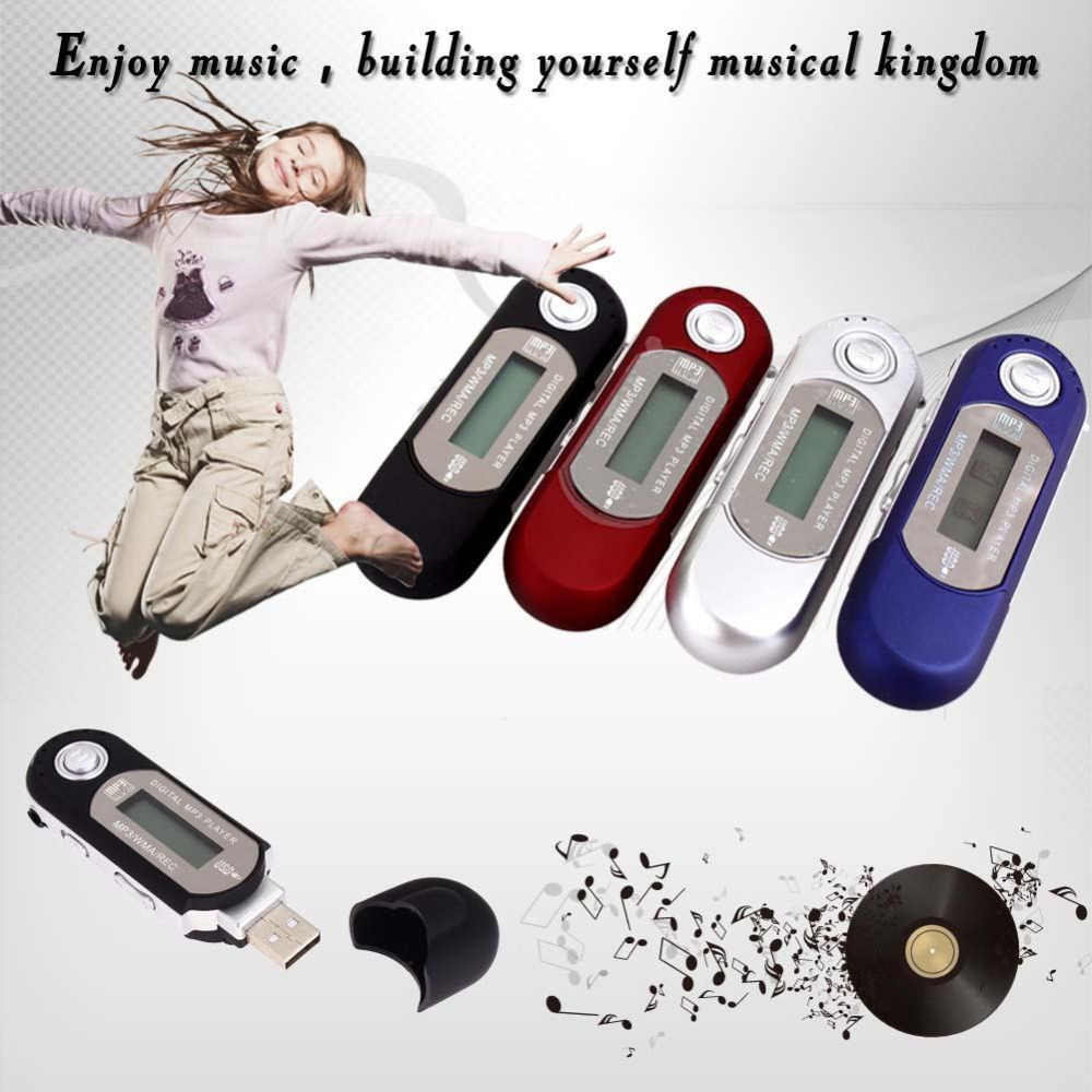 Fashion Mini USB Digital MP3 Player Supporting TF Card With Earphone Mini LCD screen portable sports Music mp3 player(China (Mainland))