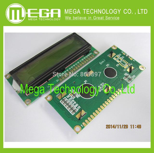 5pcs/lot , New 1602 LCD Display Module , LCD 16x2,  Yellow Green Screen Backlight ,    5V