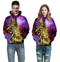 Weed Leaf Galaxy Space Hoodie Women Men Fashion Clothing 3d Jumper Outfits Hoodies Sport Tops Nebula Sweats Plus Size