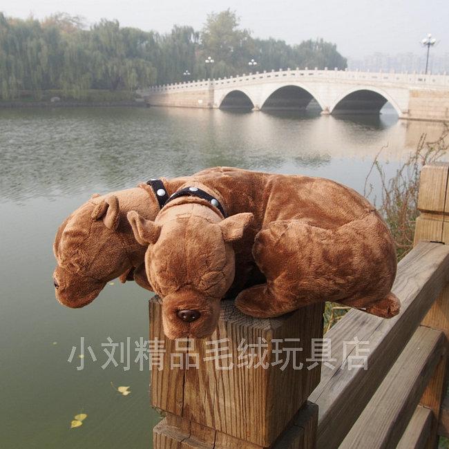 Three heads dog toy plush dog doll felhounds car plush toy doll birthday gift about 31cm(China (Mainland))