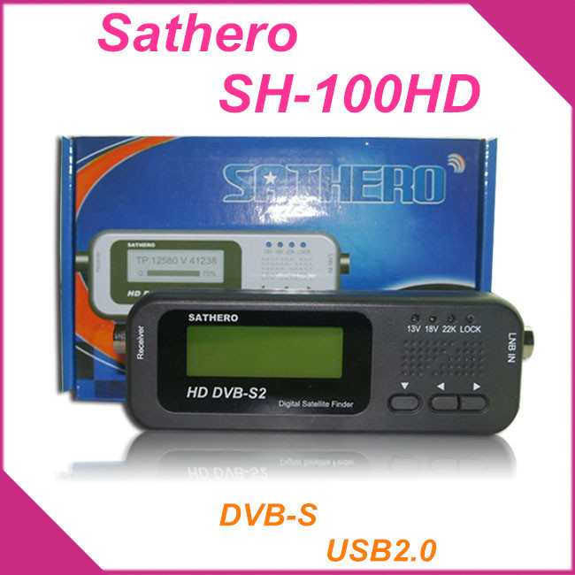 Original Sathero SH-100HD Pocket Digital Satellite Finder Satellite TV Receiver Meter HD Signal Sat Finder with DVB-S2 USB 2.0(China (Mainland))