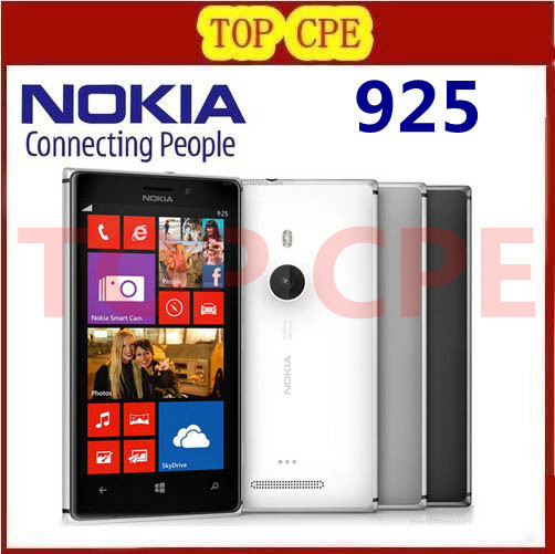 Nokia Lumia 925 Refurbished Original Windows Mobile Phone 4.5'' 8MP WIFI GPS 3G&4G GSM 16GB internal Storage 1 Year warranty(China (Mainland))