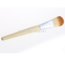 1 PC Hot sale Cosmetic brush single bamboo handle mask blush foundation brush powder brush universal Free shipping