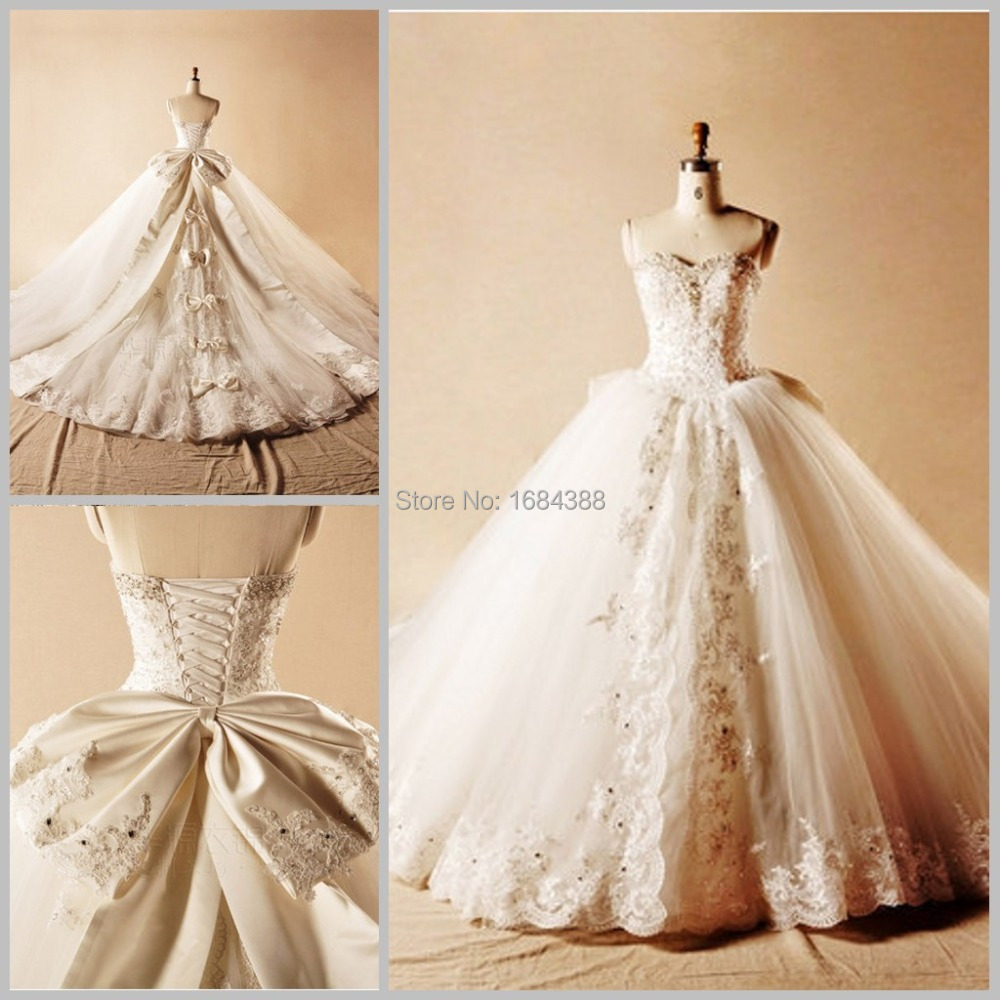 Newest spring princess lace with beading ball gown wedding for Wedding dresses with crystals beading
