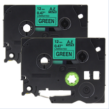 Buy 2pcs 12mm*8m Compatible brother label tapes tze tz tapes tze731 tz731 tze 731 Tze-731 black green P-touch label for $8.35 in AliExpress store