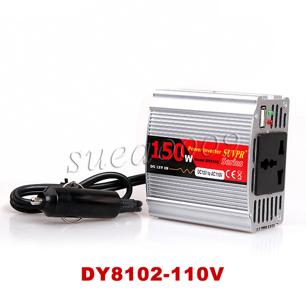 150W Car Charger DC 12V AC 110V Power Adapter Inverter